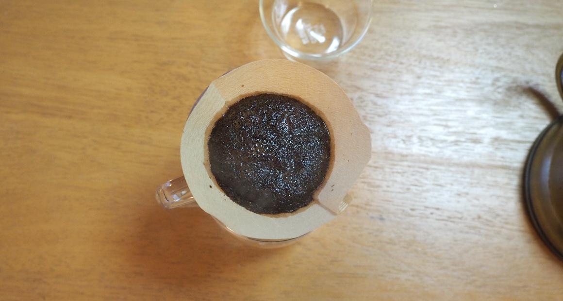 欅cafe_コーヒー豆_パナマ バルマウンテン_蒸らし