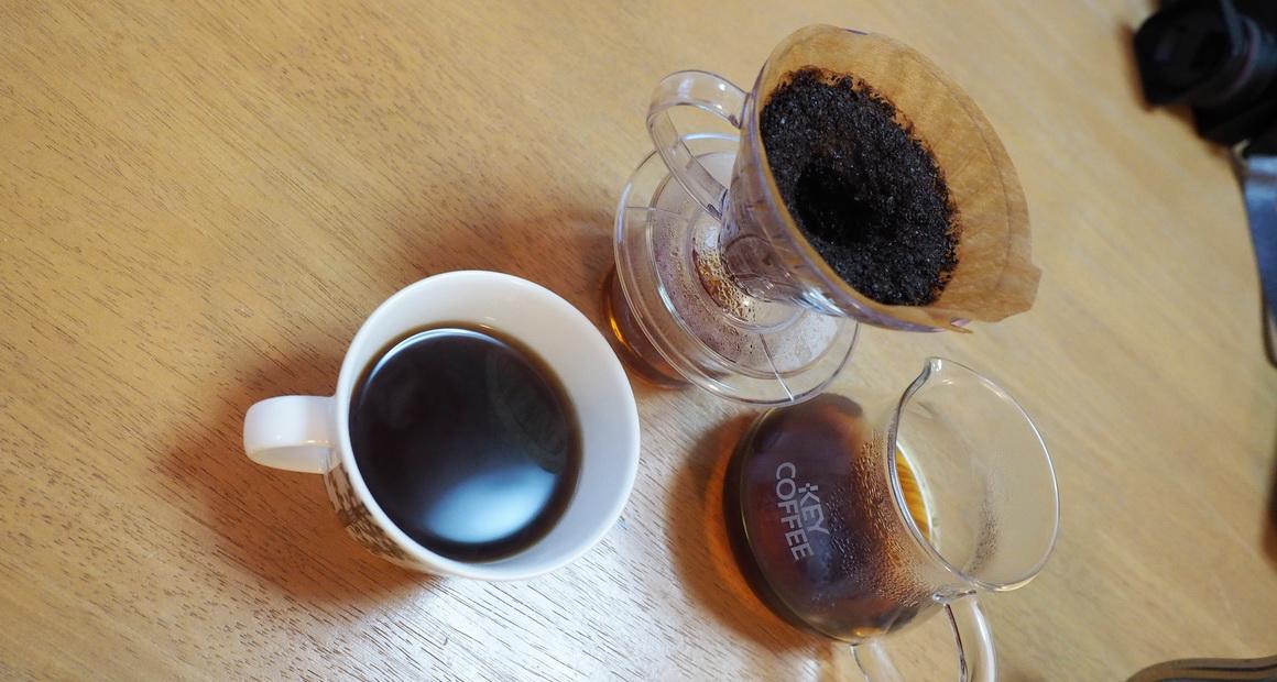 欅cafe_コーヒー豆_パナマ バルマウンテン_抽出完了2