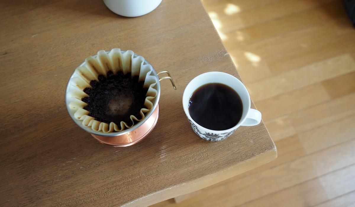 銀座カフェーパウリスタ_コーヒー通販_森のコーヒーブレンド_抽出完了