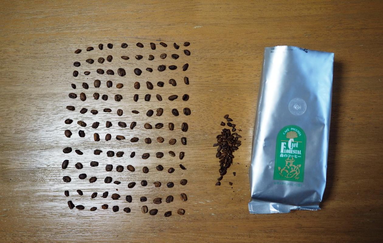 銀座カフェーパウリスタ_森のコーヒー_ブレンド定期便2回目_欠点豆