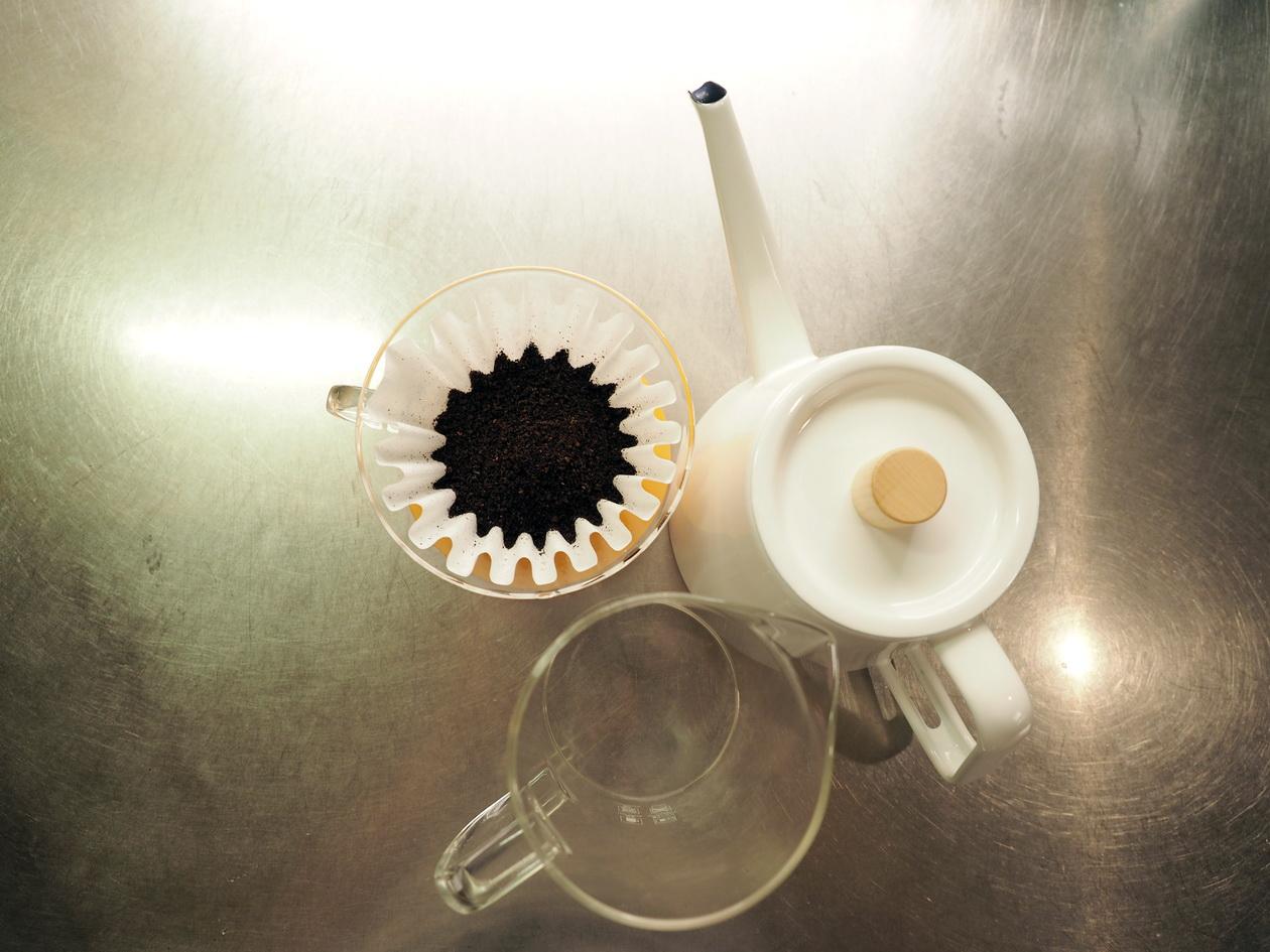 楽天で購入のコーヒー豆「コガメコーヒー」の『極上カビなしコーヒー豆』_抽出準備