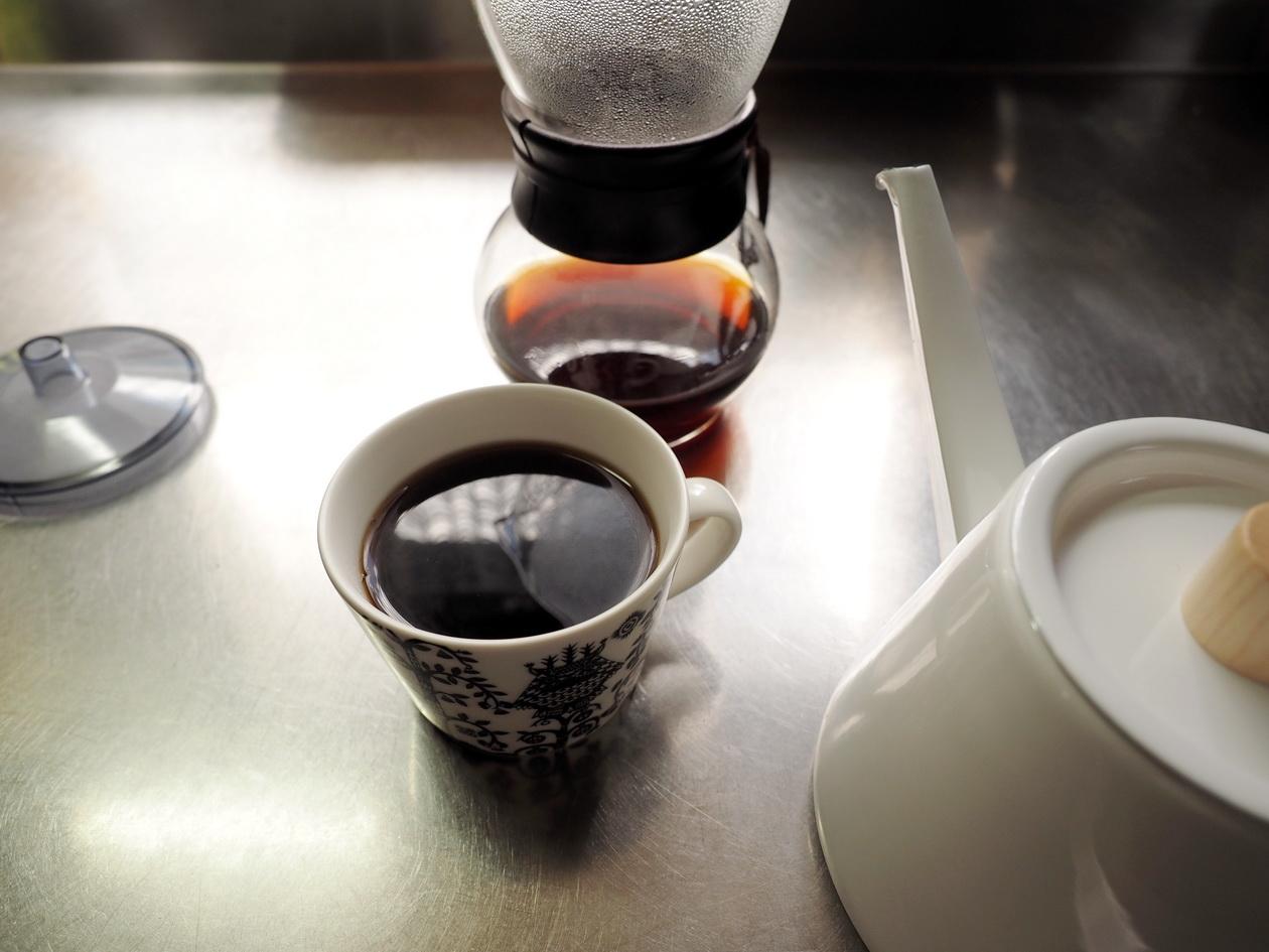 コーヒー豆の通販_購入のマタタビ珈琲豆店_エチオピアの抽出完了(ネルドリップ)