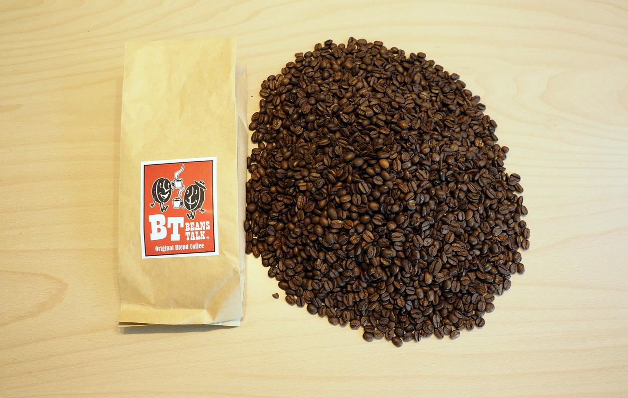 こだわりコーヒー豆 カフェごこちのオリジナルブレンド_開封したところ500g