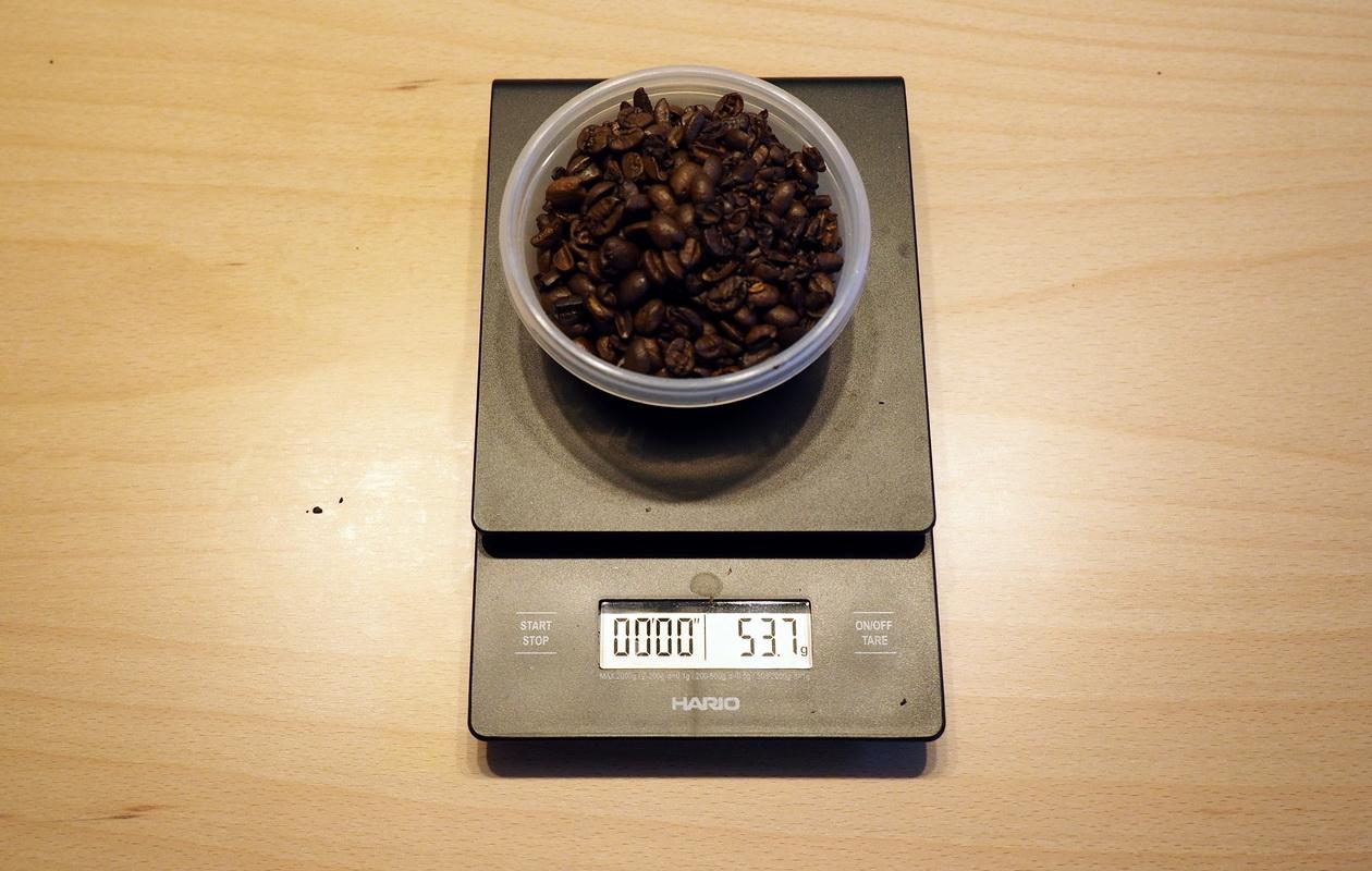 こだわりコーヒー豆 カフェごこちのオリジナルブレンド_欠点豆は500g中53.7g