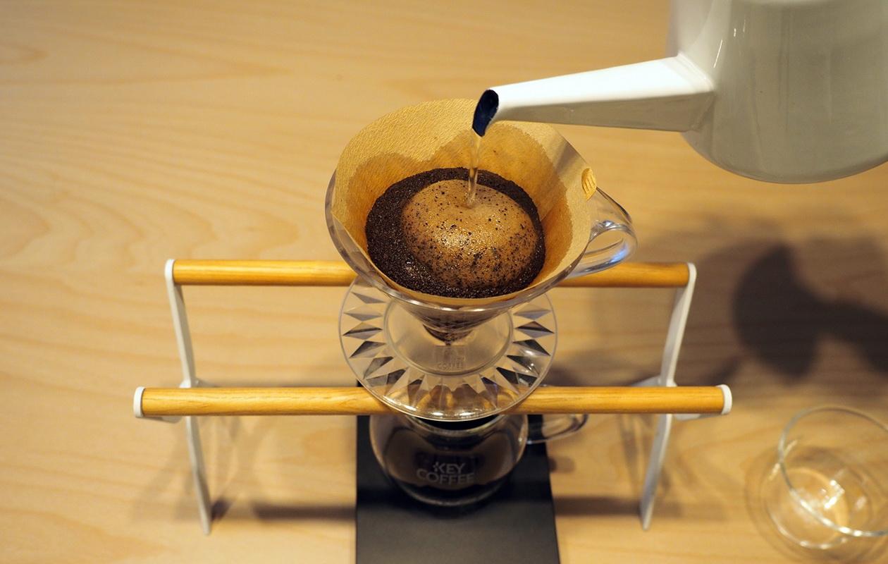 こだわりコーヒー豆 カフェごこちのオリジナルブレンド_抽出開始