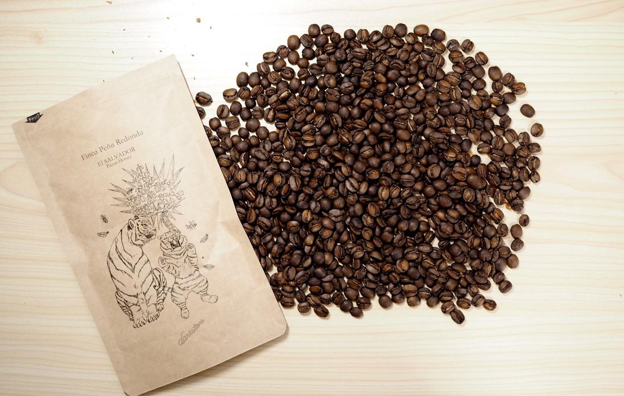仙台のカフェ デアストア(darestore)のコーヒー豆100g_エルサルバドル ペニャレドンダを開封