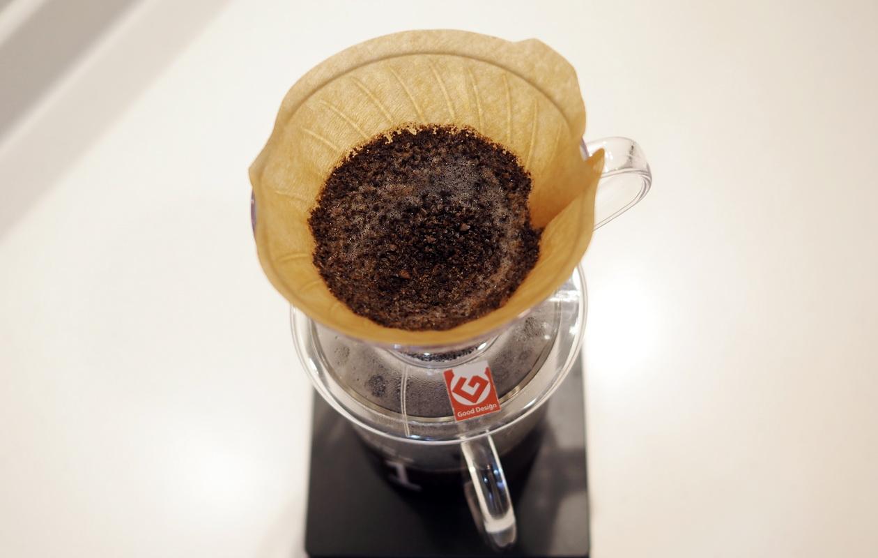 仙台のカフェ デアストア(darestore)のコーヒー_エルサルバドル ペニャレドンダをV60でドリップ終了