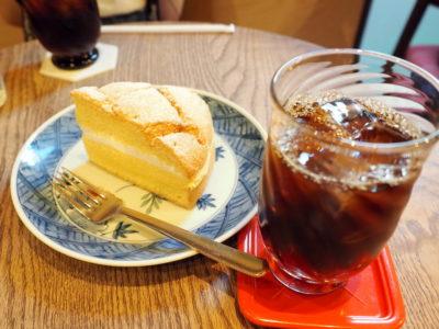 堀口珈琲のカフェでアイスコーヒー