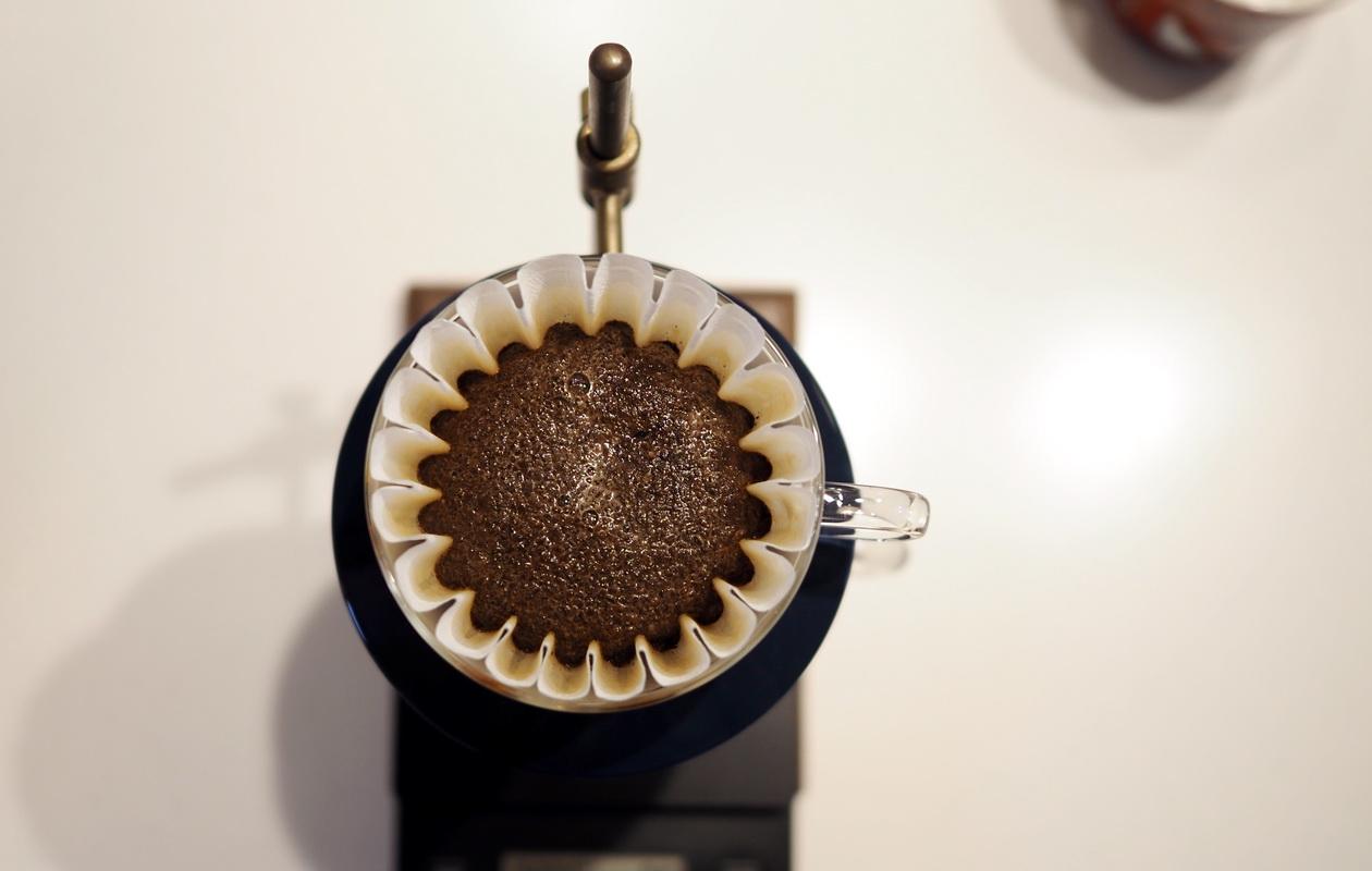 inuit coffee roasterのトライアルセット_エチオピア グジ ゲイシャを蒸らし中