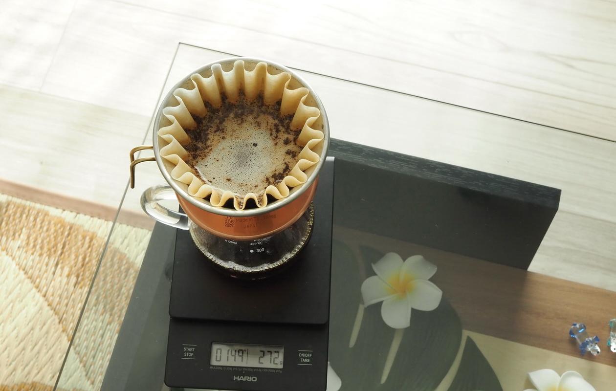 Croaster Select Coffeeのルワンダ カリシンピをハンドドリップで抽出中2