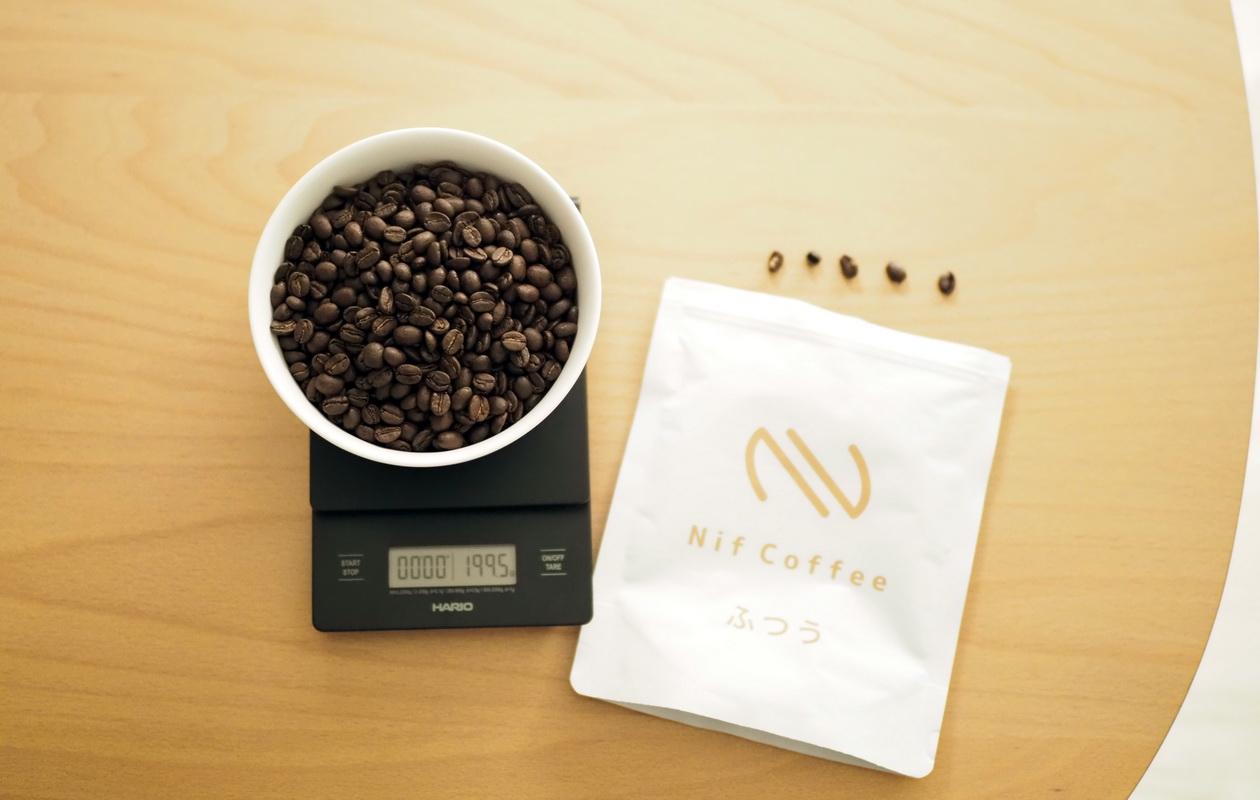 Nif Coffeeの「ふつう」コーヒー豆(欠点豆5個)
