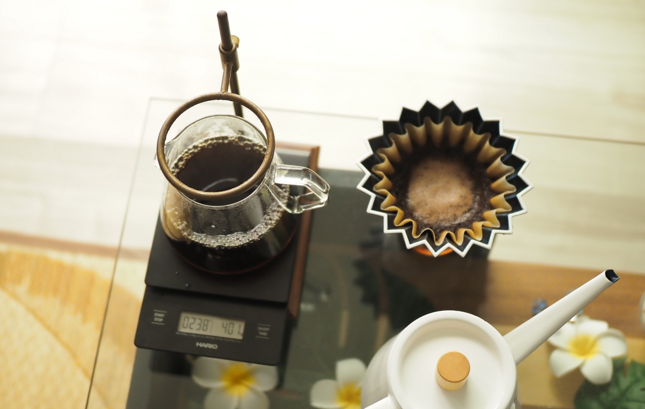 Nif Coffeeの「ふつう」コーヒーの抽出完了