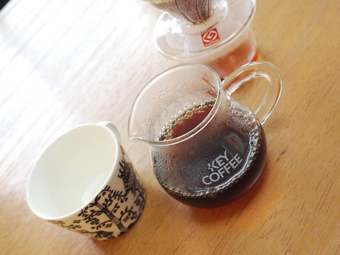 箱根焙煎珈琲_コーヒー豆_マイルドブレンド_ハンドドリップ_抽出完了