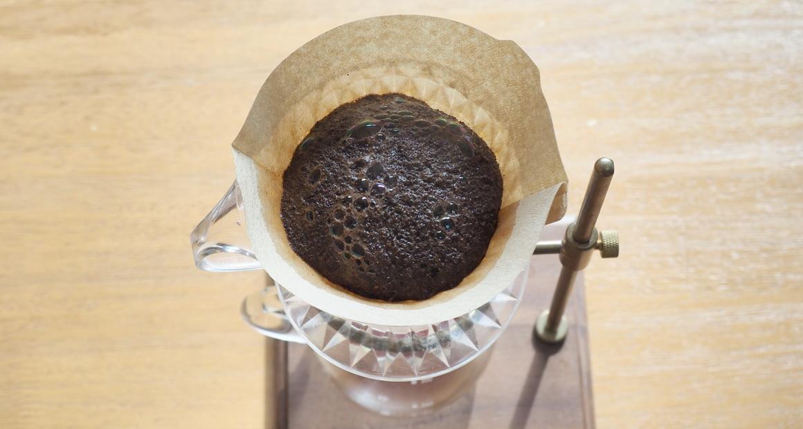 掛川一風堂_ふるさと納税_コーヒー蒸らし中
