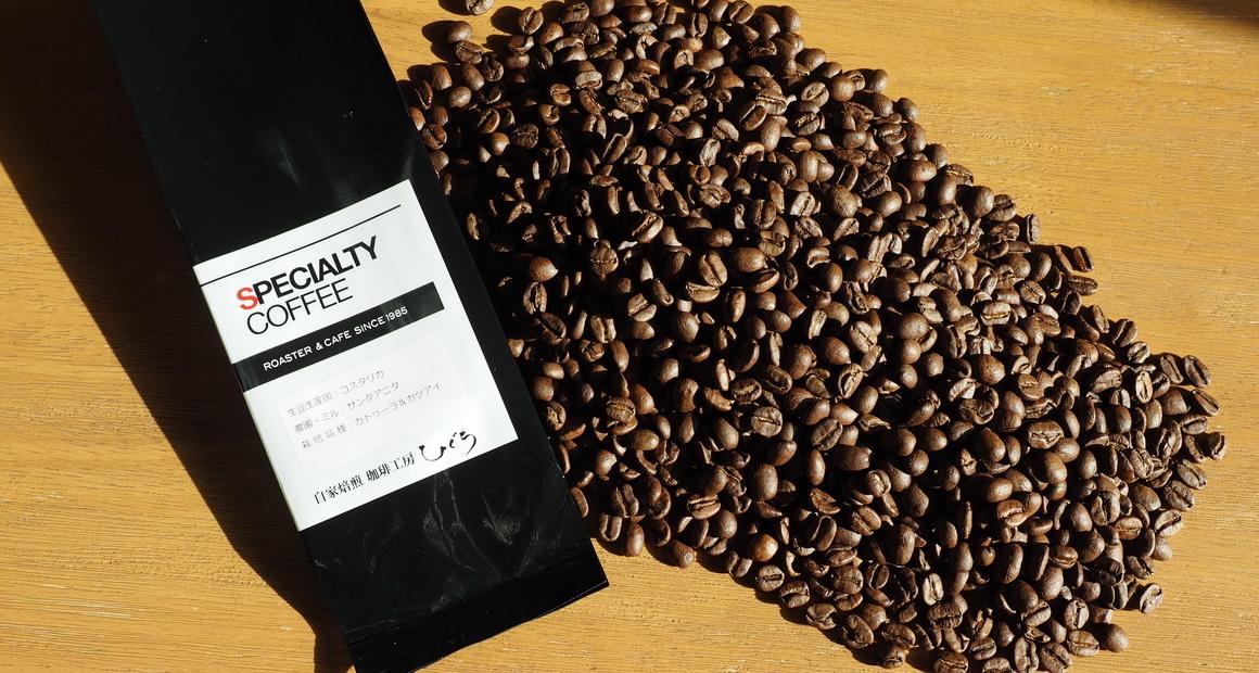 珈琲工房ひぐち_コーヒー豆_コスタリカ サンタアニタ_コーヒー豆の状態