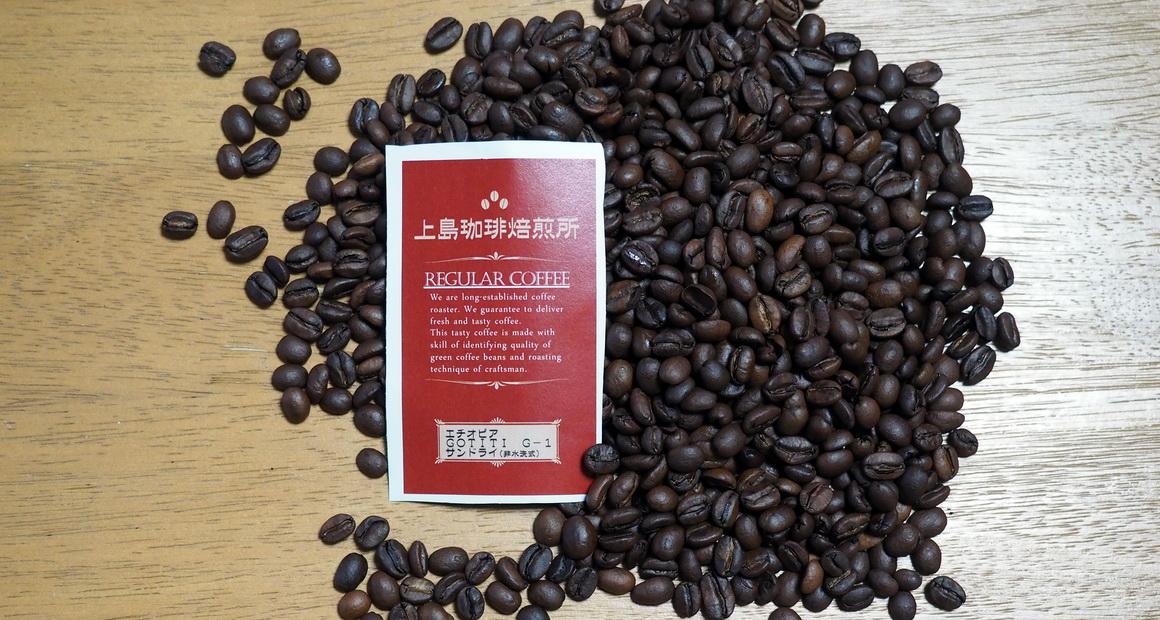 上島珈琲_エチオピア_ゴチチ_GOTITI_G1_コーヒー豆の状態