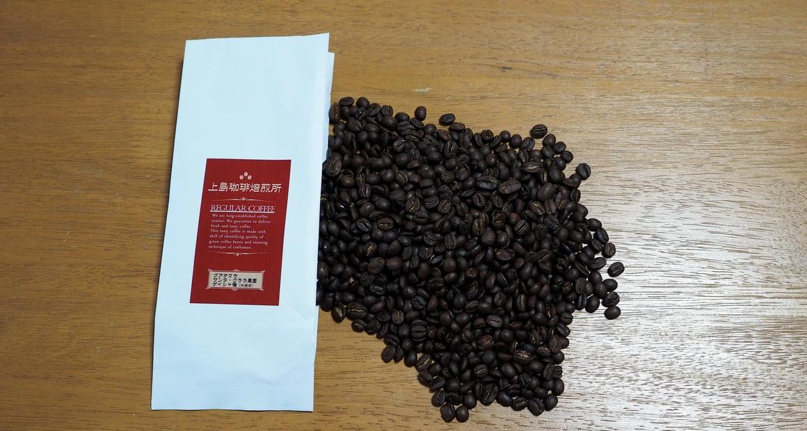 上島珈琲焙煎所_グアテマラ_サンタクララ農園_ゲイシャ_コーヒー豆の状態