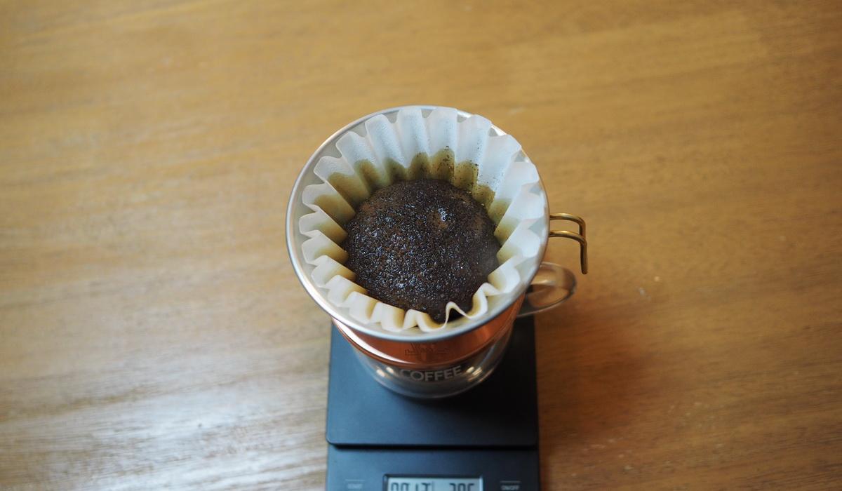 欅cafe_コーヒー豆_パナマエスメラルダゲイシャ_プライベートコレクション_蒸らし