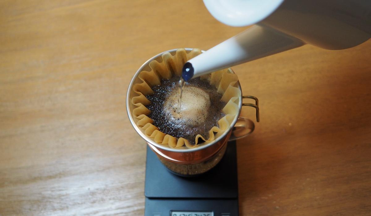 欅cafe_コーヒー豆_パナマエスメラルダゲイシャ_プライベートコレクション_抽出中