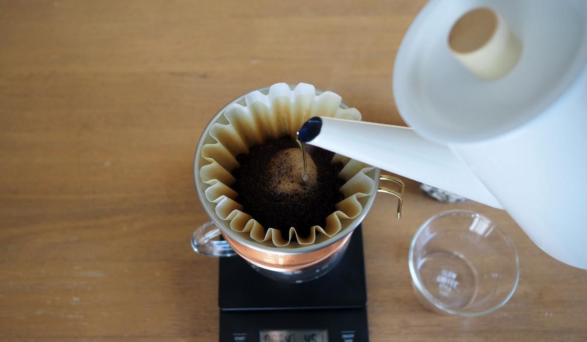 銀座カフェーパウリスタ_コーヒー通販_森のコーヒーブレンド_抽出開始