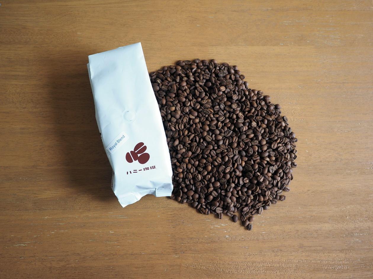 コーヒー豆「ロイヤルブレンド」をハニー珈琲で購入_コーヒー豆の状態確認