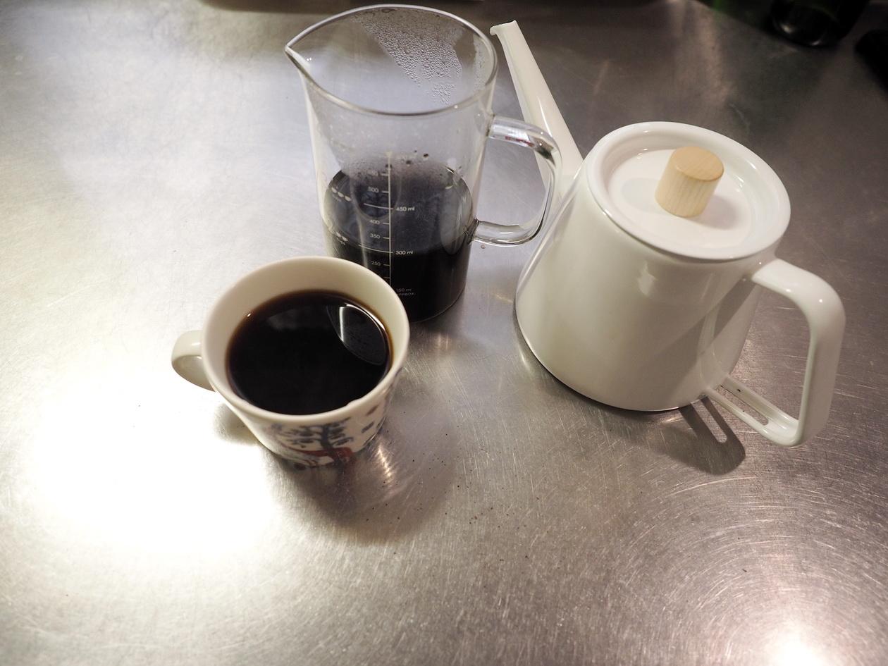 コーヒー豆の通販_購入のマタタビ珈琲豆店_ビターブレンドを抽出完了