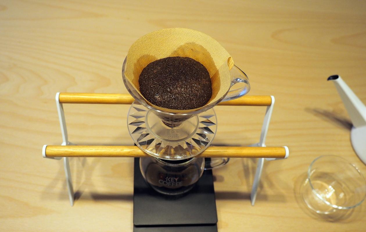 こだわりコーヒー豆 カフェごこちのオリジナルブレンド_蒸らし中