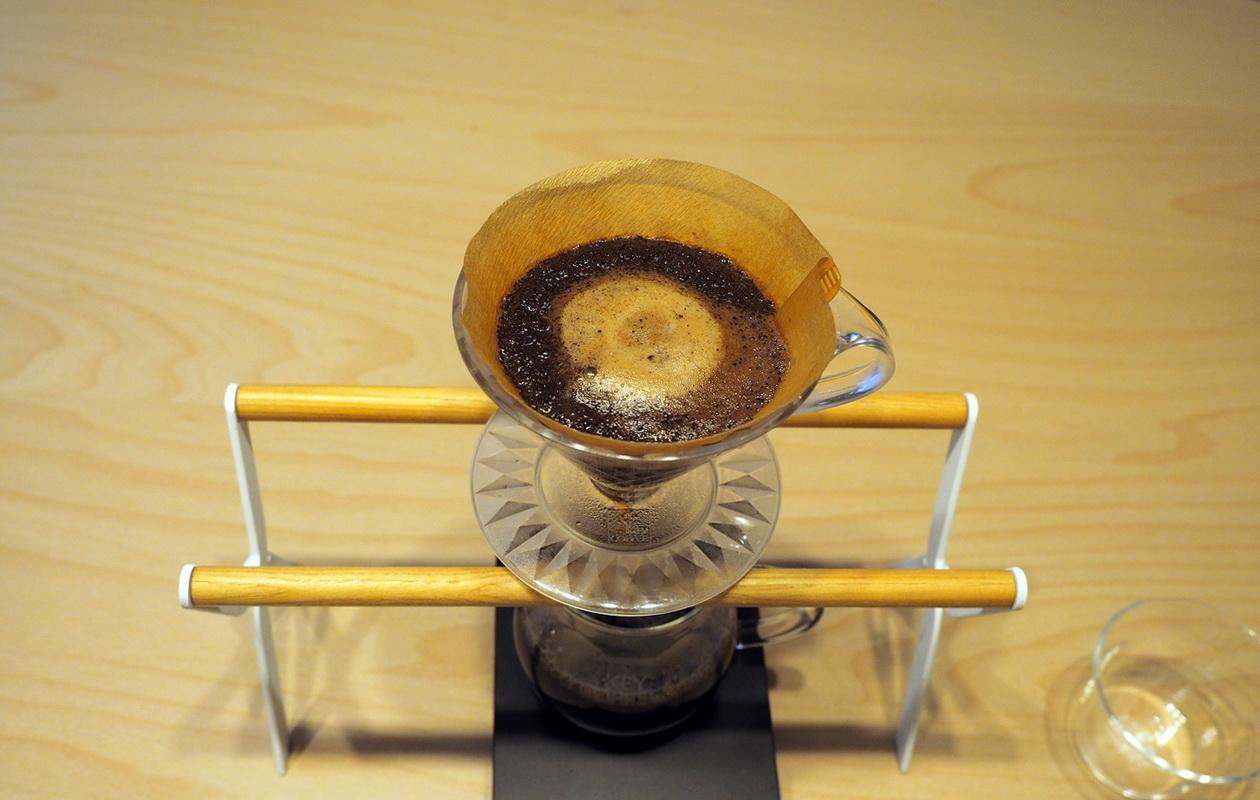 こだわりコーヒー豆 カフェごこちのオリジナルブレンド_抽出終了間際