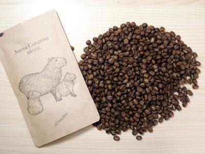 仙台のカフェ デアストア(darestore)のコーヒー豆100g_ブラジル サンタカタリーナ農園を開封