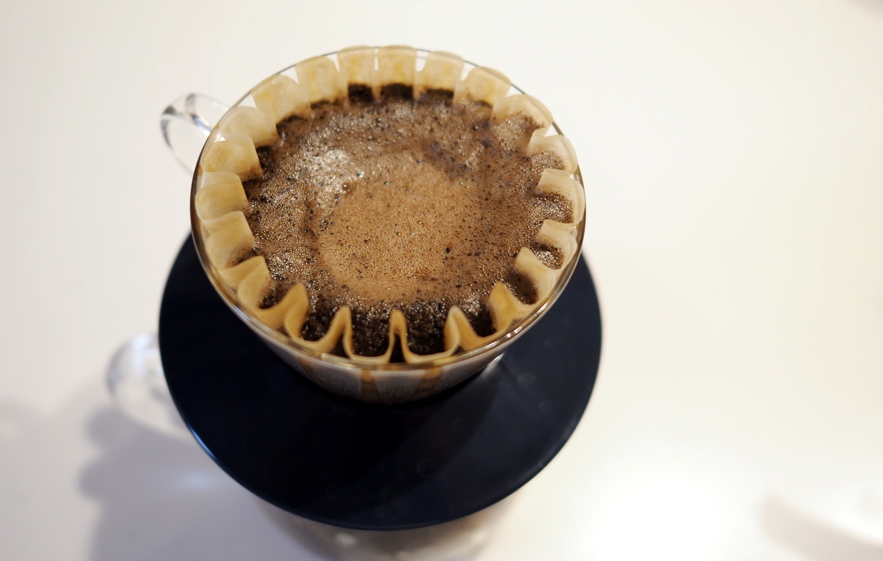 inuit coffee roasterのモーニングブレンドを抽出