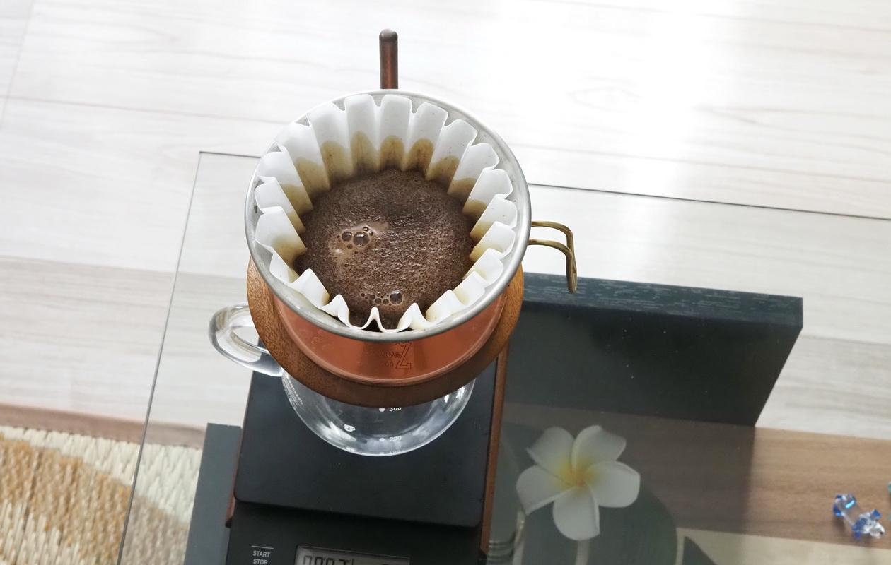 NaoCoffeeのNao Blend-コーヒーの蒸らし-